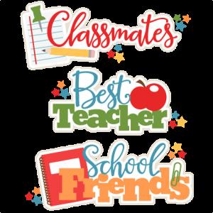 School Class Titles Set SVG scrapbook cut file cute clipart files for silhouette cricut pazzles free svgs free svg cuts cute cut files