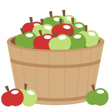 Large Apple Barrel on Zip Up Bag Clip Art