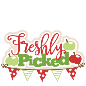 Apple Freshly Picked Title SVG cutting files for cricut silhouette pazzles free svg cuts free svgs cut cute files for scrapbooking
