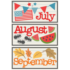 July August September Titles SVG scrapbook cut file cute clipart files for silhouette cricut pazzles free svgs free svg cuts cute cut files