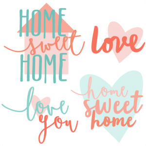 Home Sweet Home Titles SVG scrapbook cut file cute clipart files for silhouette cricut pazzles free svgs free svg cuts cute cut files
