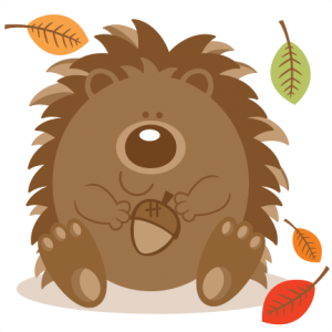 Hedgehog  With Acorn SVG scrapbook cut file cute clipart files for silhouette cricut pazzles free svgs free svg cuts cute cut files