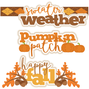 Fall Title Set SVG scrapbook cut file cute clipart files for silhouette cricut pazzles free svgs free svg cuts cute cut files