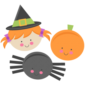 Cute Halloween Monsters Witch Pumpkin Spider SVG scrapbook cut file cute clipart files for silhouette cricut pazzles free svgs free svg cuts cute cut files