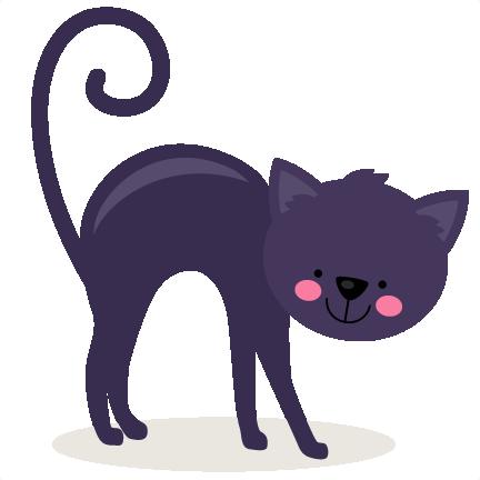 Black Cat SVG Scrapbook Cut File Cute Clipart Files For Silhouette Cricut Pazzles Free Svgs Svg Cuts