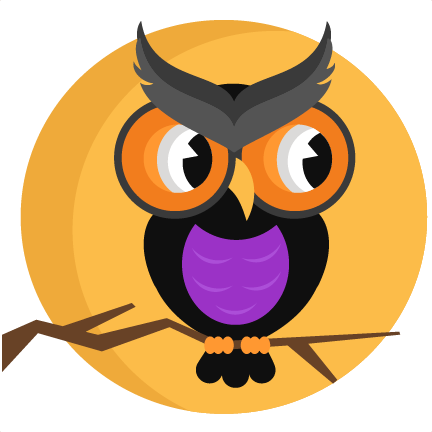 Halloween Owl With Moon SVG scrapbook cut file cute clipart files ...