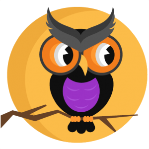Halloween Owl With Moon SVG scrapbook cut file cute clipart files for silhouette cricut pazzles free svgs free svg cuts cute cut files