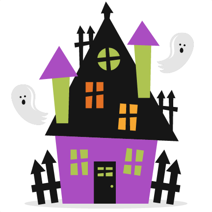 Halloween Haunted House SVG scrapbook cut file cute clipart files ...