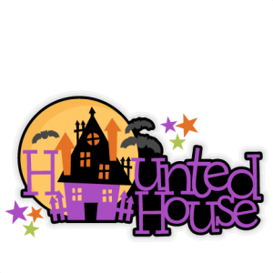 Halloween Haunted House Title SVG scrapbook cut file cute clipart files for silhouette cricut pazzles free svgs free svg cuts cute cut files