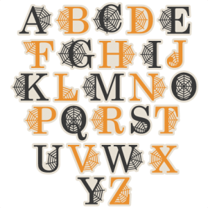 Spidereweb Uppercase Alphabet SVG scrapbook cut file cute clipart files for silhouette cricut pazzles free svgs free svg cuts cute cut files