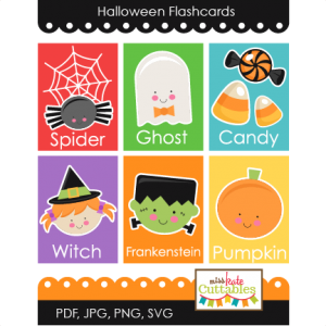 Halloween Flashcards Printables  SVG scrapbook cut file cute clipart files for silhouette cricut pazzles free svgs free svg cuts cute cut files
