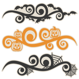 Halloween Flourish Set  SVG scrapbook cut file cute clipart files for silhouette cricut pazzles free svgs free svg cuts cute cut files