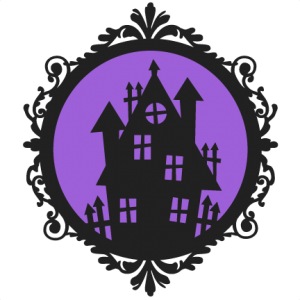 Haunted House Frame  SVG scrapbook cut file cute clipart files for silhouette cricut pazzles free svgs free svg cuts cute cut files