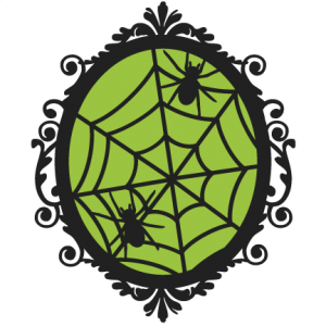 Halloween Spiderweb Frame  SVG scrapbook cut file cute clipart files for silhouette cricut pazzles free svgs free svg cuts cute cut files