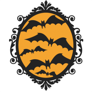Halloween Bat  Frame  SVG scrapbook cut file cute clipart files for silhouette cricut pazzles free svgs free svg cuts cute cut files