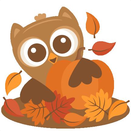 owl behind pumpkin svg scrapbook cut file cute clipart