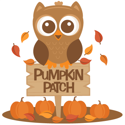 Owl in Pumpkin Patch SVG scrapbook cut file cute clipart ...