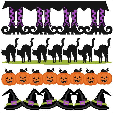 Halloween Borders SVG scrapbook cut file cute clipart files for ...