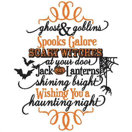Ghost & Goblins Phrase SVG scrapbook cut file cute clipart ...