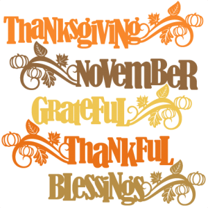 Thanksgiving Word Titles SVG scrapbook cut file cute clipart files for silhouette cricut pazzles free svgs free svg cuts cute cut files
