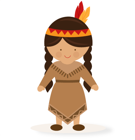 Thanksgiving Girl Native American SVG scrapbook cut file ...