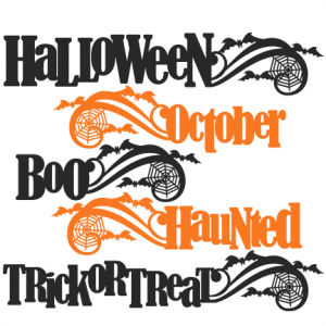 Halloween Word Titles SVG scrapbook cut file cute clipart files for silhouette cricut pazzles free svgs free svg cuts cute cut files