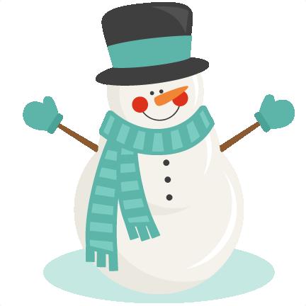 Snowman winter svg scrapbook cut file cute clipart files for