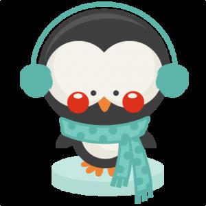 Penguin Winter SVG scrapbook cut file cute clipart files for silhouette cricut pazzles free svgs free svg cuts cute cut files