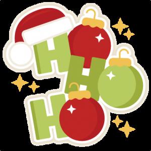 Ho Ho Ho Christmas Title SVG scrapbook cut file cute clipart files for silhouette cricut pazzles free svgs free svg cuts cute cut files