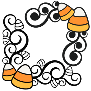 Candy Corn Flourishes SVG scrapbook cut file cute clipart files for silhouette cricut pazzles free svgs free svg cuts cute cut files