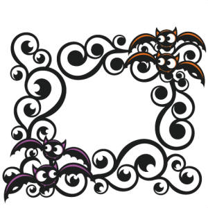 Halloween Bat Flourishes SVG scrapbook cut file cute clipart files for silhouette cricut pazzles free svgs free svg cuts cute cut files