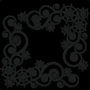 Spidereweb Flourishes SVG scrapbook cut file cute clipart files for silhouette cricut pazzles free svgs free svg cuts cute cut files