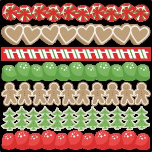 Gingerbread Borders SVG scrapbook cut file cute clipart files for silhouette cricut pazzles free svgs free svg cuts cute cut files
