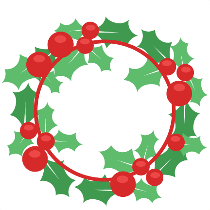 Christmas Wreath Silhouette.Christmas Wreath Svg Scrapbook Cut File Cute Clipart Files