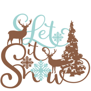 Let It Snow Phrase Winter Scene SVG scrapbook cut file cute clipart files for silhouette cricut pazzles free svgs free svg cuts cute cut files