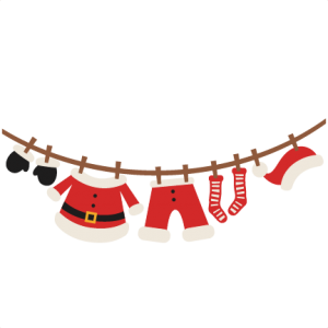 Santa's Clothes  SVG scrapbook cut file cute clipart files for silhouette cricut pazzles free svgs free svg cuts cute cut files