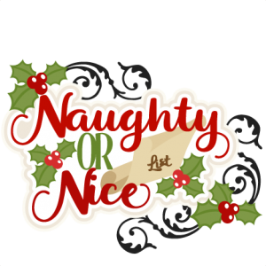 Christmas Naughty or Nice Title SVG scrapbook cut file cute clipart files for silhouette cricut pazzles free svgs free svg cuts cute cut files