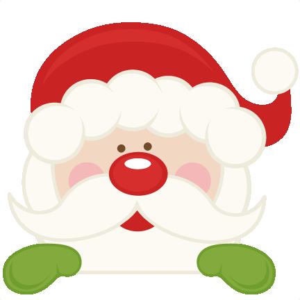 peeking santa svg scrapbook cut file cute clipart files cute santa and reindeer clipart cute santa clipart free