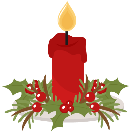 christmas candle scrapbook cut file cute clipart files for. Black Bedroom Furniture Sets. Home Design Ideas