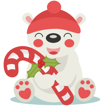 Christmas Polar Bear SVG scrapbook cut file cute clipart files for ...