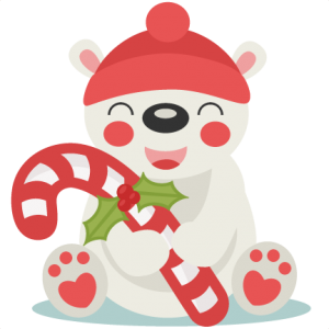 Christmas Polar Bear SVG Scrapbook Cut File Cute Clipart