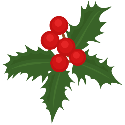 Christmas Holly Silhouette.Christmas Holly Scrapbook Cut File Cute Clipart Files For