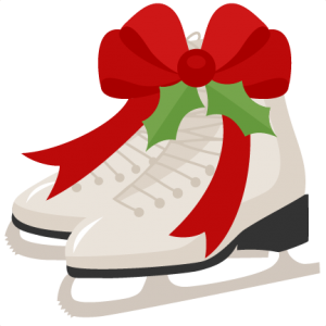 Christmas Ice Skates scrapbook cut file cute clipart files for silhouette cricut pazzles free svgs free svg cuts cute cut files