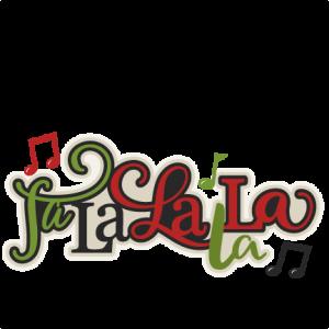 Christmas Fa La La La La Title  scrapbook cut file cute clipart files for silhouette cricut pazzles free svgs free svg cuts cute cut files