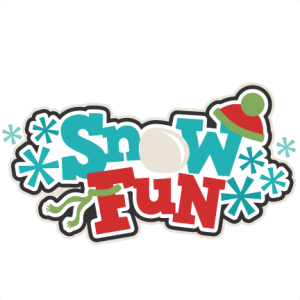 Snow Fun Title SVG scrapbook cut file cute clipart files for silhouette cricut pazzles free svgs free svg cuts cute cut files