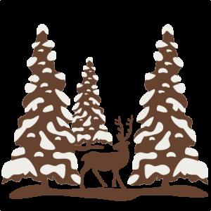 Winter Scene SVG scrapbook cut file cute clipart files for silhouette cricut pazzles free svgs free svg cuts cute cut files