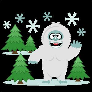 Snow Yeti Snowman SVG scrapbook cut file cute clipart files for silhouette cricut pazzles free svgs free svg cuts cute cut files