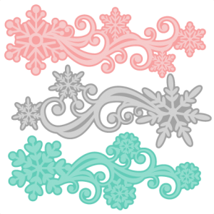 Snowflake Flourish Set SVG scrapbook cut file cute clipart files for silhouette cricut pazzles free svgs free svg cuts cute cut files
