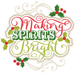 Making Spirits Bright Title  scrapbook cut file cute clipart files for silhouette cricut pazzles free svgs free svg cuts cute cut files