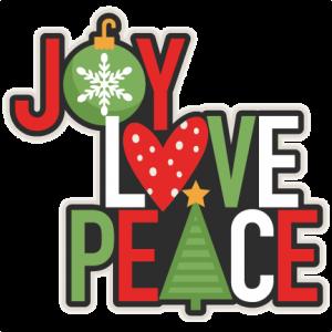 Joy Love Peace Christmas Title scrapbook cut file cute clipart files for silhouette cricut pazzles free svgs free svg cuts cute cut files